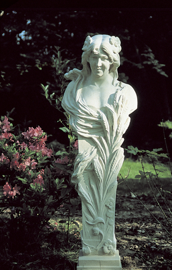 Classical Terminal Stone Statue - Summer