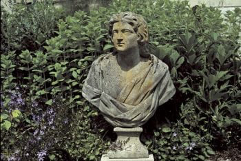 Bust of a Roman God Stone Statue