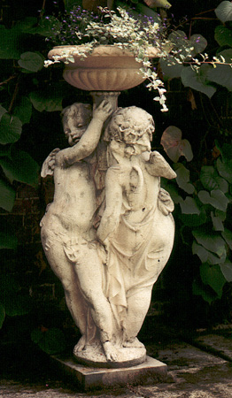 Entwined Cherubs Stone Statue