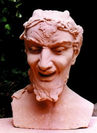 Stone Bust of Bacchus