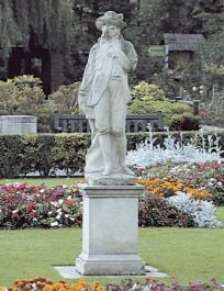 French Male Stone Statue - Romantic Era