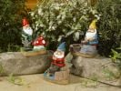 Smart Solar Fishing Gnomes with Lights (3 Pack)
