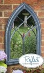 2ft 6in x 1ft 7in Gothic Wooden Effect Glass Garden Mirror - by Reflect�