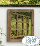 2ft x 1ft 10in Window Effect Glass Garden Illusion Mirror - by Reflect�