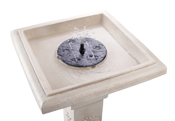 Budding Dahlia Solar Bird Bath Water Feature with Lights and Automation Function (H83cm) by Solaray™