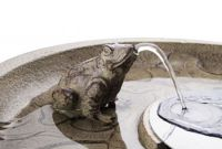 Frog Lily Falls Solar Bird Bath Water Feature with Lights and Automation Function (H80cm) by Solaray�