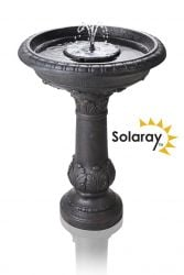 65.5cm Windsor Solar Bird Bath Water Feature with Lights and Automation Function by Solaray™
