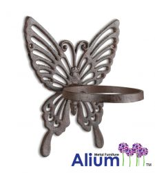 Cast Iron Butterfly Wall Plant Pot Holder