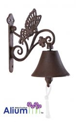Cast Iron Butterfly Doorbell