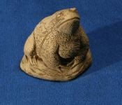 Natural Finish Concrete Old Toad Ornament H18cm
