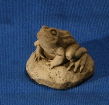 Natural Finish Concrete Small Frog Ornament H15cm