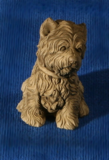 Natural Finish Concrete Dog Ornament H16cm