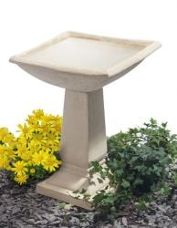 H52cm Selbourne Cast Stone Bird Bath by Ambienté