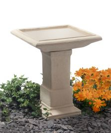 H51cm Hatfield Cast Stone Bird Bath by Ambienté