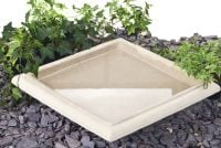 Hatfield Cast Stone Bird Bath Bowl W43cm