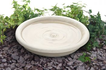 43cm Clermont Cast Stone Round Bird Bath Bowl