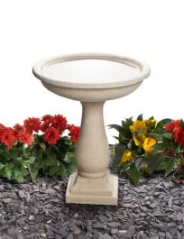50cm Clermont Cast Stone Round Bird Bath