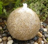 Honed Beige Granite Sphere Garden Ornament dia 40cm