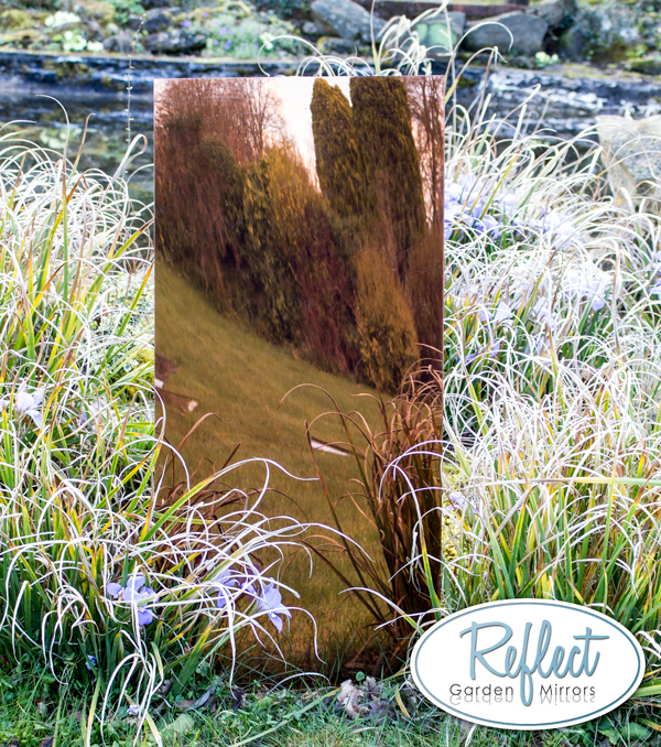 4ft x 2ft Medium Bronze Garden Mirror - by Reflect™