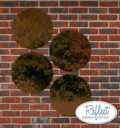 16in Set of 4 Circular Acrylic Bronze Garden Mirrors - by Reflect™