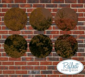 16in Set of 6 Circular Acrylic Bronze Garden Mirrors - by Reflect™