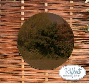 16in Circular Acrylic Bronze Garden Mirror - by Reflect™
