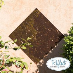 2ft x 2ft Small Square Bronze Garden Mirror - by Reflect™