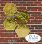1ft 3¾in Set of 4 Hexagonal Gold Mirrors - by Reflect™