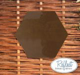 11¾in Small Hexagonal Bronze Mirror - by Reflect™