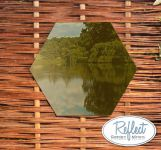 1ft 4in Hexagonal Acrylic Gold Garden Mirror - by Reflect™