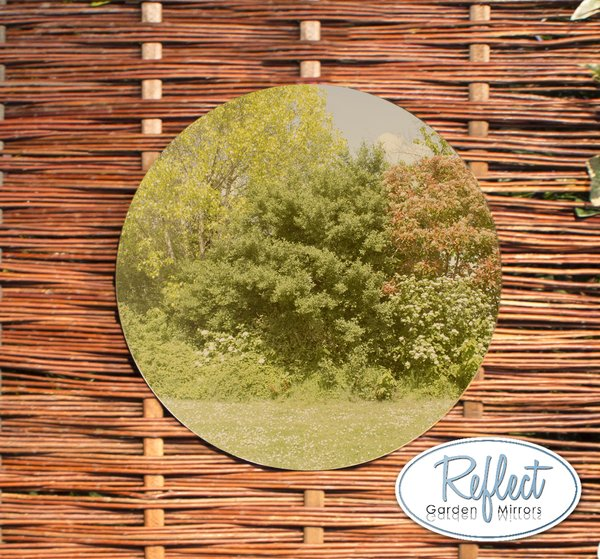 1ft 4in Circular Acrylic Gold Garden Mirror - by Reflect™