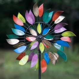Multicolour Dancing Leaves Wind Spinner Dia 61cm by Creekwood™