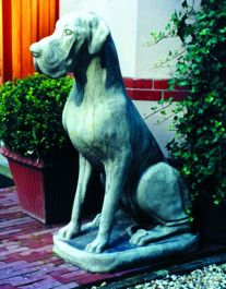 Male Great Dane Stone Statue