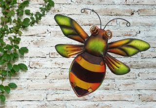 Glass Bumblebee Garden Wall Art by Creekwood™