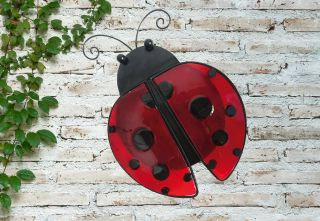 Glass Ladybird Garden Wall Art by Creekwood™