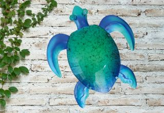 Glass Turtle Garden Wall Art by Creekwood™