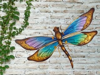 Glass Dragonfly Garden Wall Art by Creekwood™