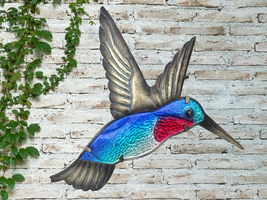Glass Hummingbird Garden Wall Art by Creekwood™
