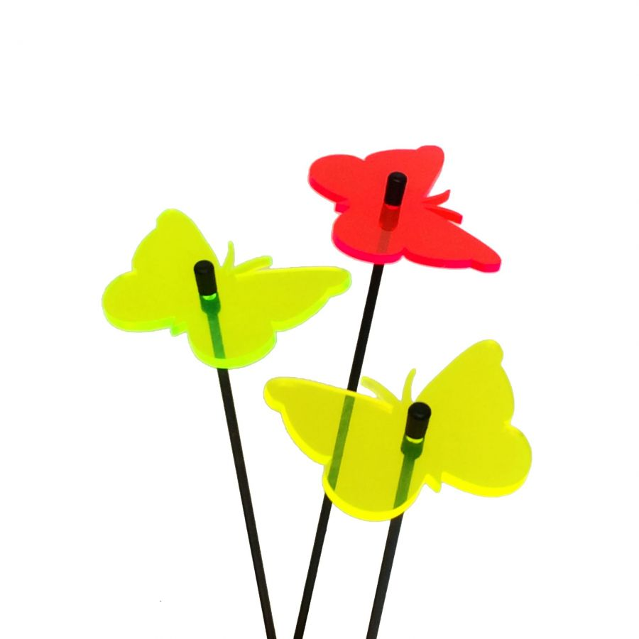 Set of 3 Multicolour Butterfly SunCatchers - 6cm