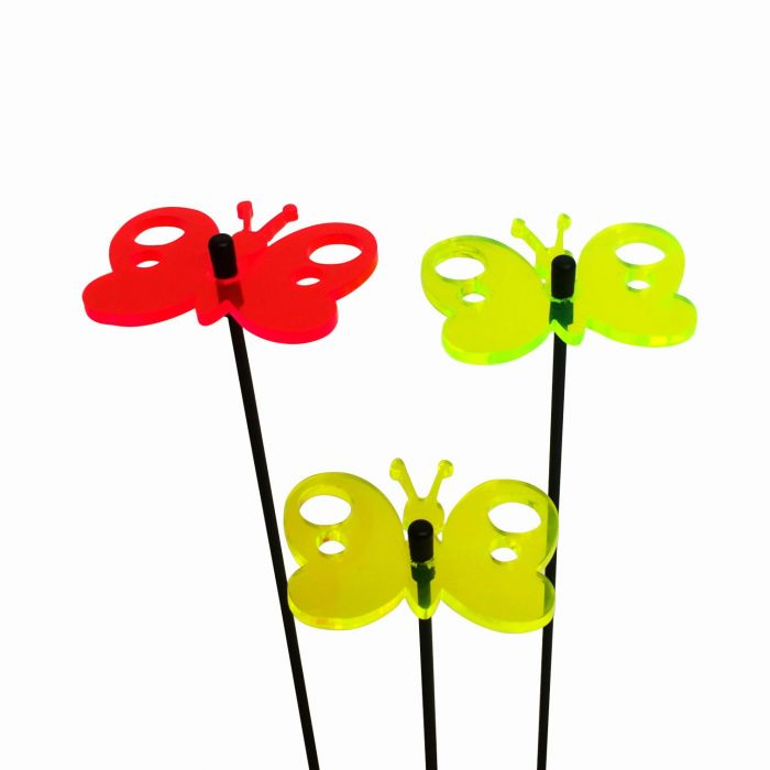 Set of 3 Bright Multicolour Butterfly SunCatchers - 6cm