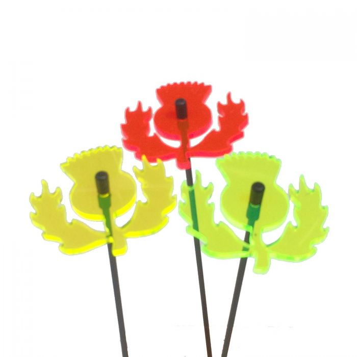 Set of 3 Multicolour Scottish Thistle SunCatchers - 6cm