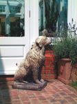 Golden Retriever Stone Statue