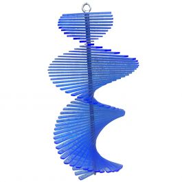 Fish Tail Blue SunCatcher Wind Spinner - 40cm