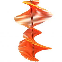 Fish Tail Orange SunCatcher Wind Spinner - 40cm