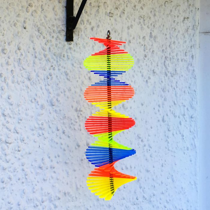 Tubular Multicolour SunCatcher Wind Spinner - 40cm