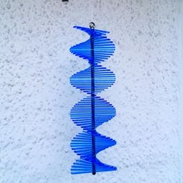 Tubular Blue SunCatcher Wind Spinner - 40cm