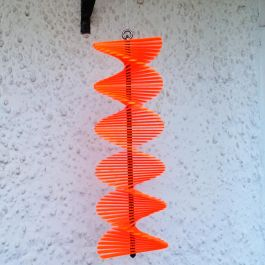 Tubular Orange SunCatcher Wind Spinner - 40cm