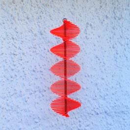 Tubular Red SunCatcher Wind Spinner - 40cm