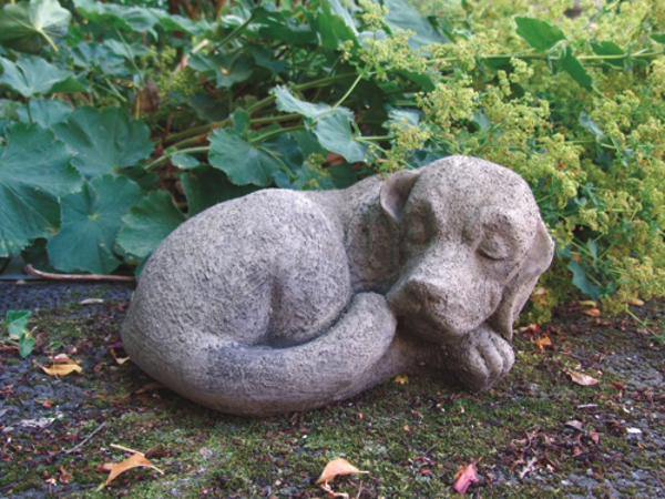Sleeping Dog Stone Statue
