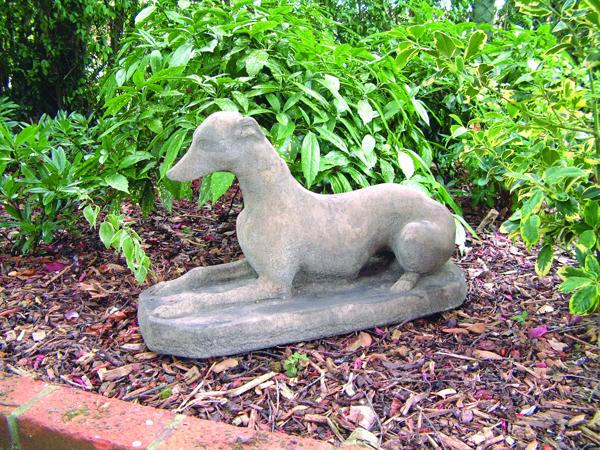 Whippet Stone Statue